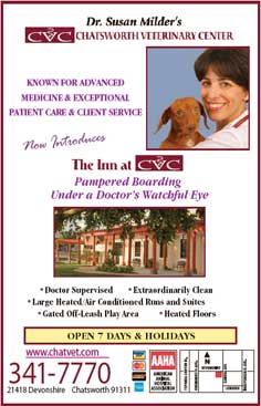 Dr. Susan Milder's - Chatsworth Veterinary Center - 341-7770 - 21418 Devonshire Chatsworth 91311