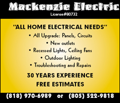 Mackenzie Electric - �All Home Electrical Needs�